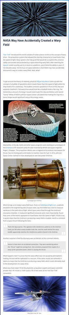 NASA May Have Accidentally Created a Warp Field - Imgur
