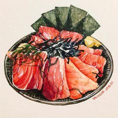 "704 Likes, 8 Comments - watercolor food painting/맛있는그림 (@dalgura) on Instagram: ""아직 한번도 못가본 마쇼지만 비주얼이 넘나 끝내주므로 안그릴수가 없었음 하지만 제주도 마쇼의 영업시간은 나에게 허들이 너무 높아;;;…"""