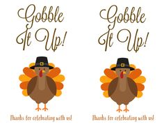 Thanksgiving Labels for DIY Bags and Utensil Holders Custom Printed Labels, Printing Labels, Fall Projects, Easter Projects, Printable Labels, Free Printables, Thanksgiving Place Cards, Label Templates, Craft Tutorials