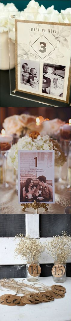 unique wedding table number decoration ideas