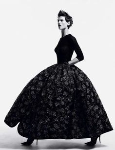 Black Ball Gown Editorials : Master Pieces