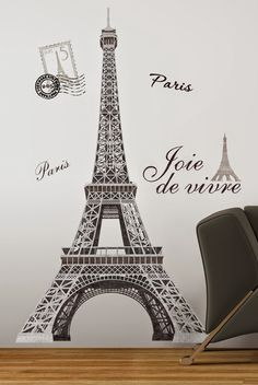 Bedroom Decor Ideas and Designs: Paris Themed Bedroom Decor Ideas