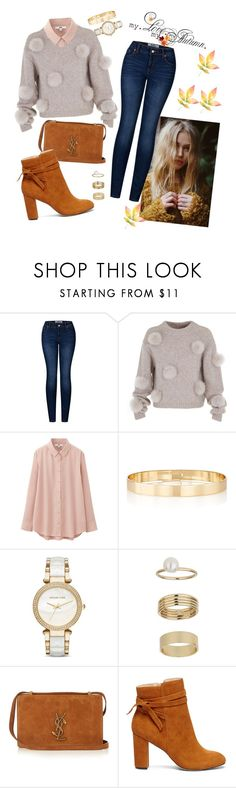 Pompom by belahbell on Polyvore featuring moda, TIBI, Uniqlo, 2LUV, Sole Society, Yves Saint Laurent, Michael Kors, Jules Smith, Miss Selfridge and Fall