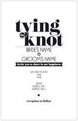 Wedding Invitations Invitations & Announcements tying the knot