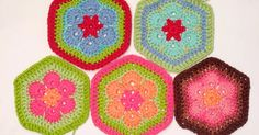 Hello friends :) Today I am doing a tutorial on the African Flower Crochet hexagon.I recently joined a Ravelry group swap, and really have . Hexagon Crochet Pattern, Crotchet Patterns, Afghan Crochet Patterns, Crochet Squares, Knitting Patterns, Free Pattern, Granny Squares, Mandala Au Crochet, Crochet Quilt