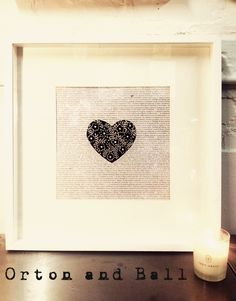 Botanical heart Lino print 12x12
