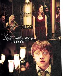 Ronmione Lights Will Guide You Home Ron Weasley Hermione Granger Lights will guide you home Harry Potter Love, Harry Potter Fandom, Harry Potter World, Harry Potter Memes, James Potter, Ron Weasley, Mischief Managed, Hermione Granger, Hogwarts