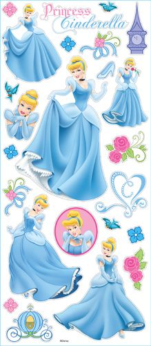 EK Success - Disney Collection - Large Classic Stickers - Princess Cinderella at Scrapbook.com $3.29