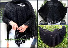 Een omslagdoek (all shawl van Doris Chan) die rond loopt en niet in een punt. Het patroon is hier te vinden, er staat ook een teltekening bij http://www.pinterest.com/pin/126734176987465732/ Het is gehaakt met ca 5 bollen Royal van 100 gram en haaknaald 8.