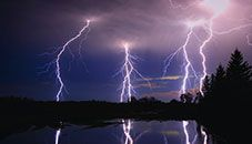 Lightning pictures show dramatic lightning bolts striking from clouds to land. See more pictures of lightning strikes and lightning photography. Thunder And Lightning, Lightning Bolt, Lightning Storms, Cosmos, Storm Wallpaper, Mobile Wallpaper, Wild Weather, Canvas Art, Canvas Prints