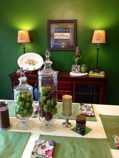 Green Dining Room, Martha Stewart Caper Berry paint!!