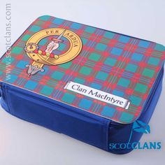 MacIntyre Clan Crest Lunch Box. Free Worldwide Shipping Available