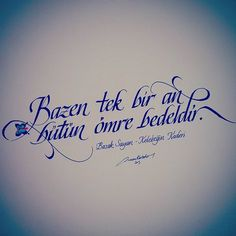 Ahmet krtl. ..öyle birini seversinki Calligraphy Handwriting, Caligraphy, Arabic Calligraphy, Typography, Lettering, Learning Arabic, Love You, My Love, More Than Words