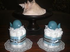 Whale Baby Shower Centerpiece Diaper by bearbottomdiapercakes, $10.00
