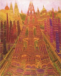 The paranoiac cities and basilicas of Marcel Storr, in RV 36. http://rawvision.com/articles/marcel-storr-revenge-underground-imagination