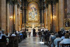 Traditional Catholic Wedding in gorgeous Roman Church (FSSP).