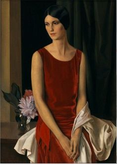 Portrait of Mary Louise McBride (Mrs Homer Saint-Gaudens), 1929 by Louis Buisseret on Curiator, the world's biggest collaborative art collection. Female Portrait, Portrait Art, Female Art, Woman Painting, Figure Painting, Pinturas Art Deco, Art Academy, Italian Artist, Italian Painters