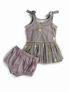 Stella McCartney Kids Infant's Tulle Star Dress & Bloomers Set