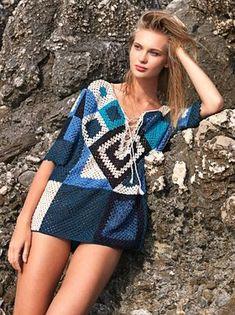 Delicadezas en crochet Gabriela: Blusones