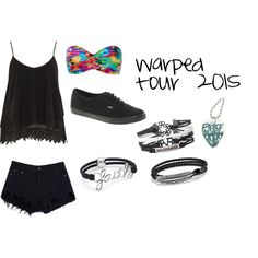 warped tour 2015 by amconrad on Polyvore featuring Alice & You, Seafolly, Vans and David Yurman