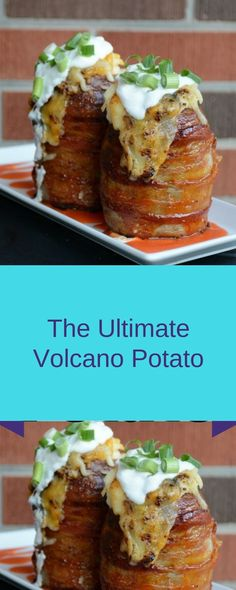 The Ultimate Volcano Potato - Yumms Food Recipes Easy Delicious Recipes, Vegan Recipes, Tasty, Yummy Food, Volcano Potatoes, Healthy Dinner Options, High Protein Low Carb, Potato Dishes, Looks Yummy