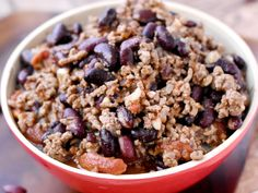 Chili con carne express French Food, Cookies Et Biscuits, Acai Bowl, Meal Planning, Oatmeal, Cereal, Food And Drink, Gluten Free, Snacks