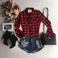 Como usar xadrez no dia a dia sem parecer que é festa junina? Lazy Day Outfits, Summer Outfits For Teens, Punk Outfits, Teen Fashion Outfits, Simple Outfits, Cool Outfits, Teenager Outfits, Fashion Books, Casual Looks