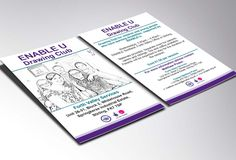 DRAWING CLUB - Double sided leaflet flyer design for ENABLE U Drawing Club in Stirling.