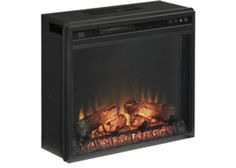 W100-01 Entertainment Accessories Fireplace Insert - Black - Free Shipping!
