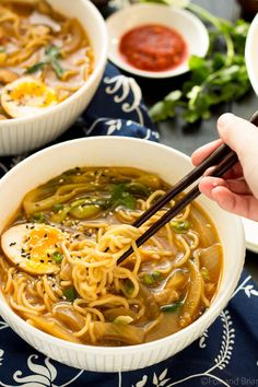 So, this is not an autentic ramen recipe. But it is a bowl full of flavor, and you can make it in about 30 minutes. Also I have made it four times in the past few weeks, soooo, I've been eating A LOT of it and am not sick of it yet.
