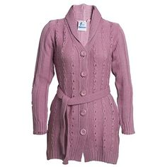 A cable knit cardigan coat that is a blend of style, comfort and keeps