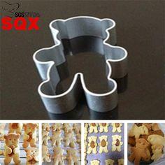 Ferramentas Bolo Bakeware Mould Fondant Cortadores de Biscoito de alumínio Biscuit Molde Cozinha Diy Little Bear Cookie Cutter SQL02(China (Mainland))