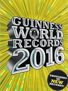 Guinness World Records is the annual thrill for young and old. The world's best gift book for St Nicholas and Christmas. Packed with new world records. Marvel by Guinness World Records in 2016 on the most amazing records.