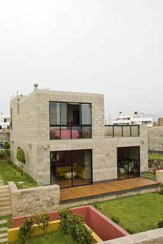modern mediterranean homes Minimalist House Design, Small House Design, Modern House Design, Cinder Block House, Modern Mediterranean Homes, House Construction Plan, Home Design Floor Plans, Concrete Houses, Dream House Exterior