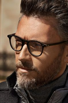 Hackett London Fall-Winter 2014-2015 Menswear - glasses and beard