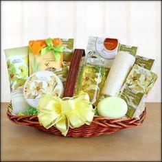 Elegant Orchid Spa Sensation Gift Basket