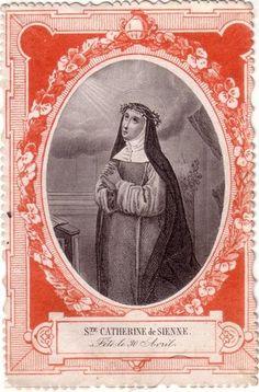 SAINTE CATHERINE DE SIENNE - Image pieuse / Holy card / Heiligenbild   Flickr - Photo Sharing!