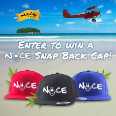 It's time for our End-Of-Summer Giveaway!!  5 lucky winners will receive our NEW Niice Snap Back cap in the color of their choice!