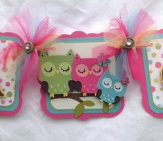Sleeping Owl family baby shower banner its by NancysBannerBoutique,