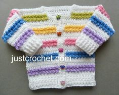 Free baby crochet pattern short jacket and pants usa Baby Boy Sweater, Baby Sweater Patterns, Crotchet Patterns, Baby Patterns, Crochet Baby Sweaters, Crochet Baby Cardigan, Crochet Baby Clothes, Baby Knitting, Crochet For Boys