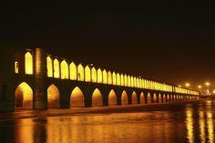 10Best: Beautiful Bridges: Slideshows Photo Gallery by 10Best.com - Khaju Bridge, Isfahan, Iran