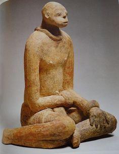 Seated figure Region of Segou, Mali, terracotta, h. 44.3 cm