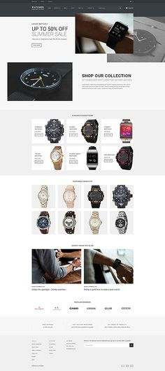 Premium Watches Online Store #Shopify #template. #themes #business #responsive #webshop #Shopifythemes