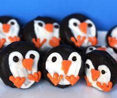 Penguin Oreos- freaking cute!!!!!!!!