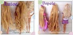 Organize sem Frescuras | Rafaela Oliveira » Arquivos » Dicas caseiras de como cuidar e alisar o cabelo das bonecas
