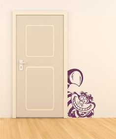 Cheshire cat vinyl wall decal by circlewallart on Etsy, £17.99