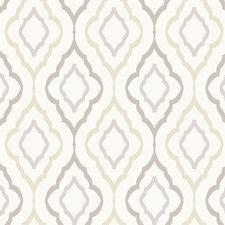 "Candice Olson Inspired Elegance Diva 27' x 27"" Geometric Wallpaper"