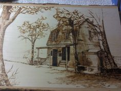 This burn was from an old book with black and white pic of old buildings. I love old buildings. This was done for my sis Jean