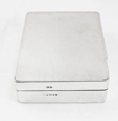 Silver Cigarette Box Engine Turned London 1960 b