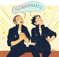In which Tanaka and Noya become second years and call each other senpai.